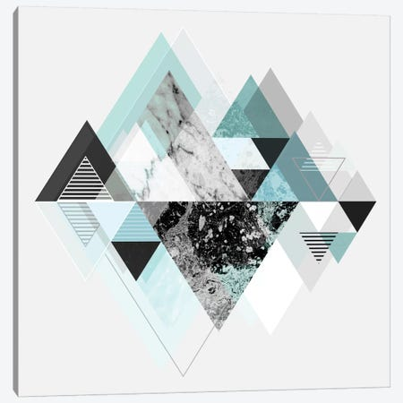 Graphic CX In Turquoise Canvas Print #BOH36} by Mareike Böhmer Art Print