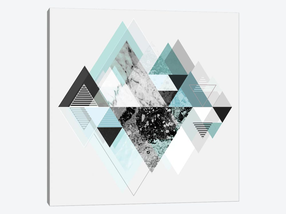 Graphic CX In Turquoise by Mareike Böhmer 1-piece Canvas Print