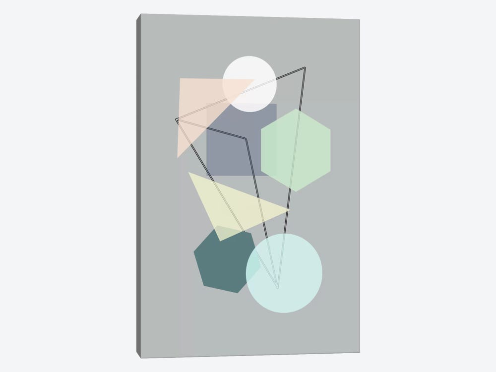 Graphic CXIII by Mareike Böhmer 1-piece Canvas Artwork