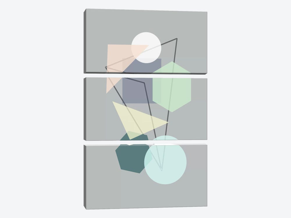Graphic CXIII by Mareike Böhmer 3-piece Canvas Artwork