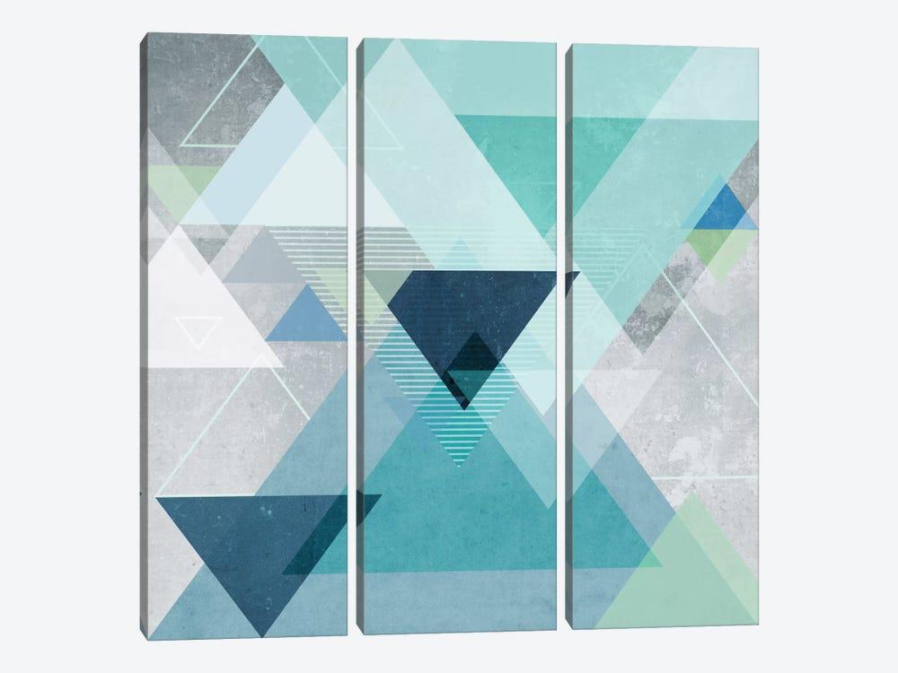 Graphic CXIV by Mareike Böhmer 3-piece Canvas Art Print