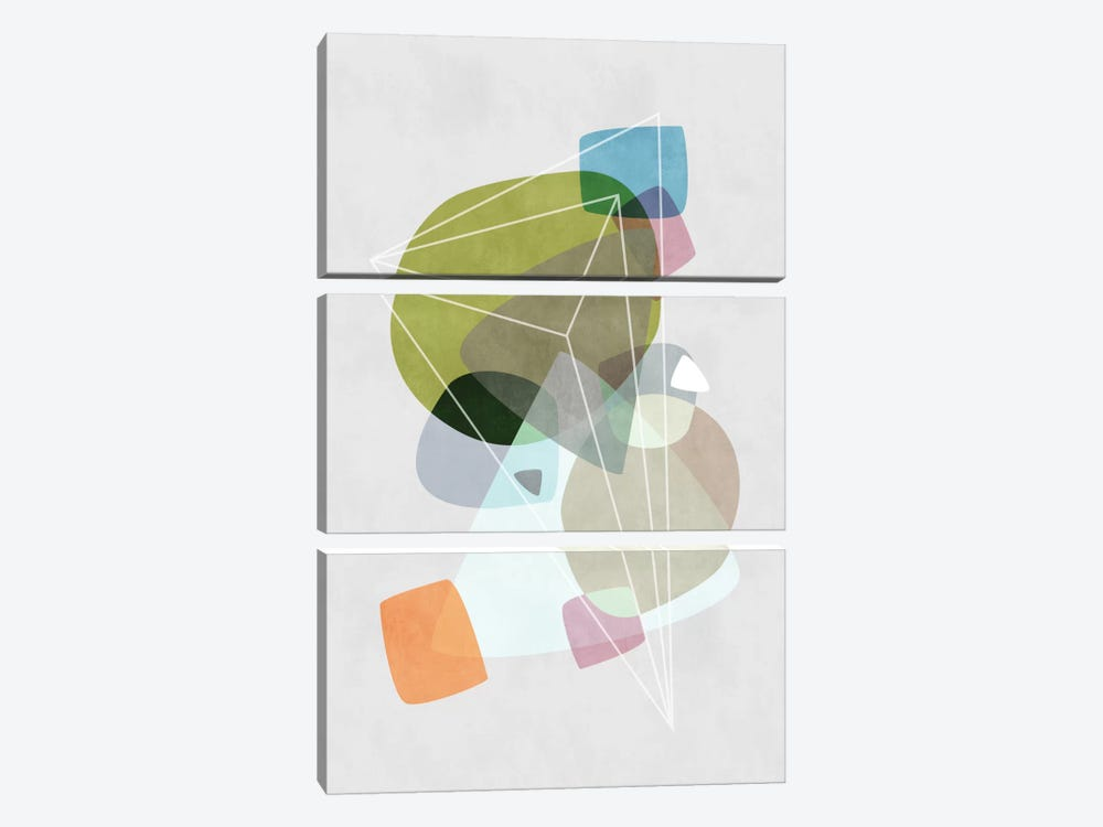 Graphic CXIX by Mareike Böhmer 3-piece Canvas Wall Art