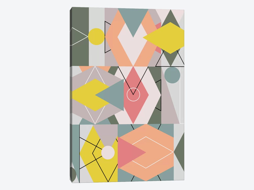 Graphic CXLV by Mareike Böhmer 1-piece Canvas Wall Art