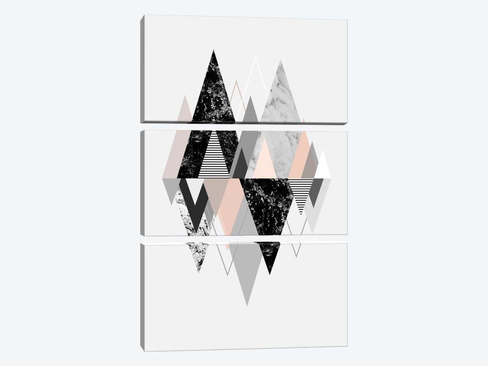 Graphic CXVII by Mareike Böhmer 3-piece Canvas Print