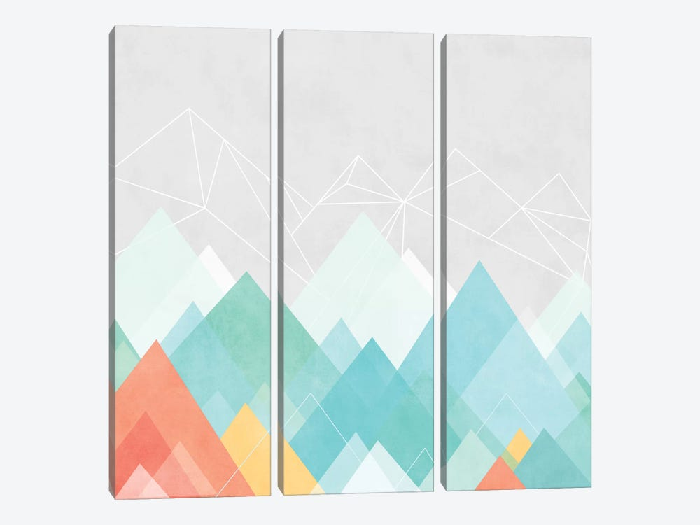 Graphic CXX by Mareike Böhmer 3-piece Canvas Art