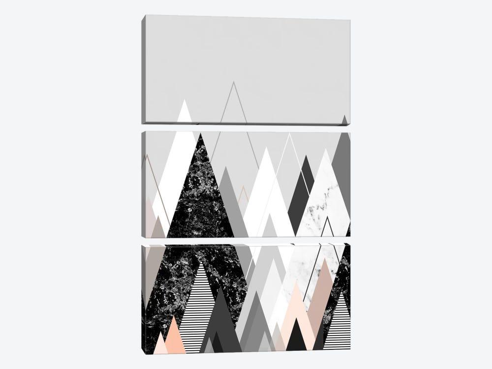 Graphic CXXIV by Mareike Böhmer 3-piece Canvas Art Print