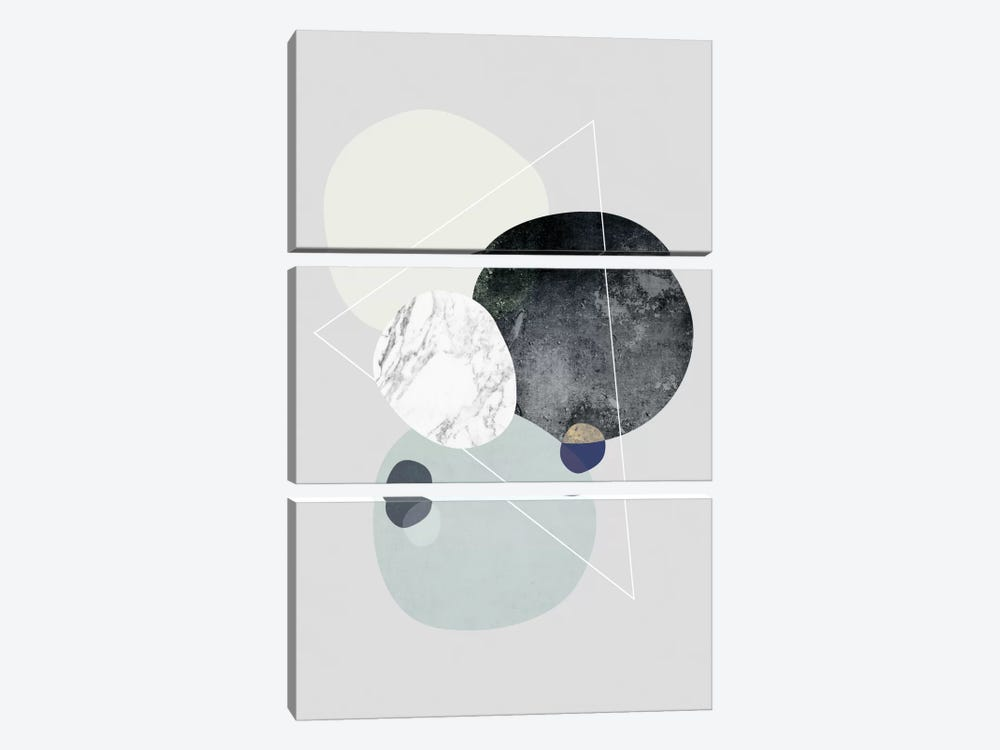 Graphic LXXXIX by Mareike Böhmer 3-piece Canvas Art Print