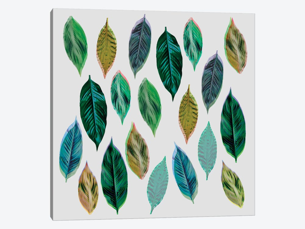 Green Leaves II by Mareike Böhmer 1-piece Canvas Artwork