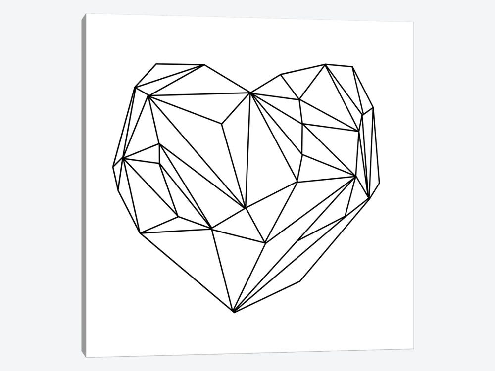 Heart Graphic I by Mareike Böhmer 1-piece Canvas Print
