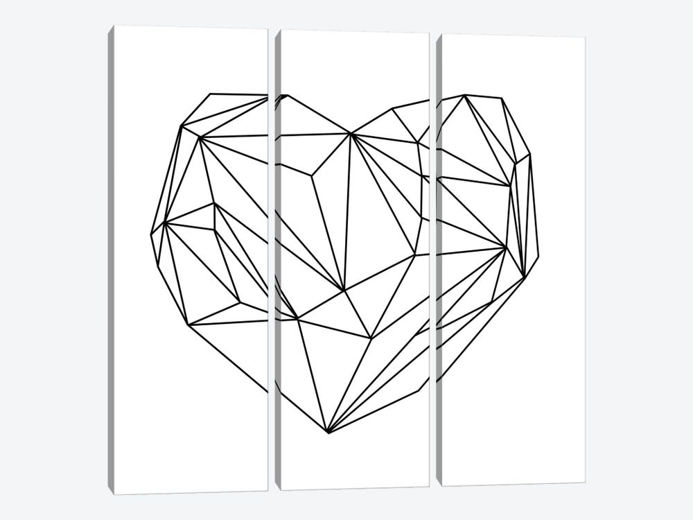 Heart Graphic I by Mareike Böhmer 3-piece Canvas Print