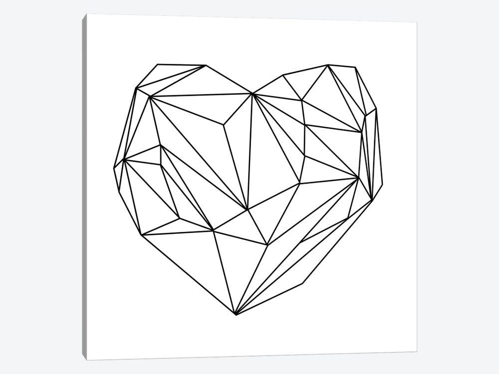 Heart Graphic I by Mareike Böhmer 1-piece Canvas Print