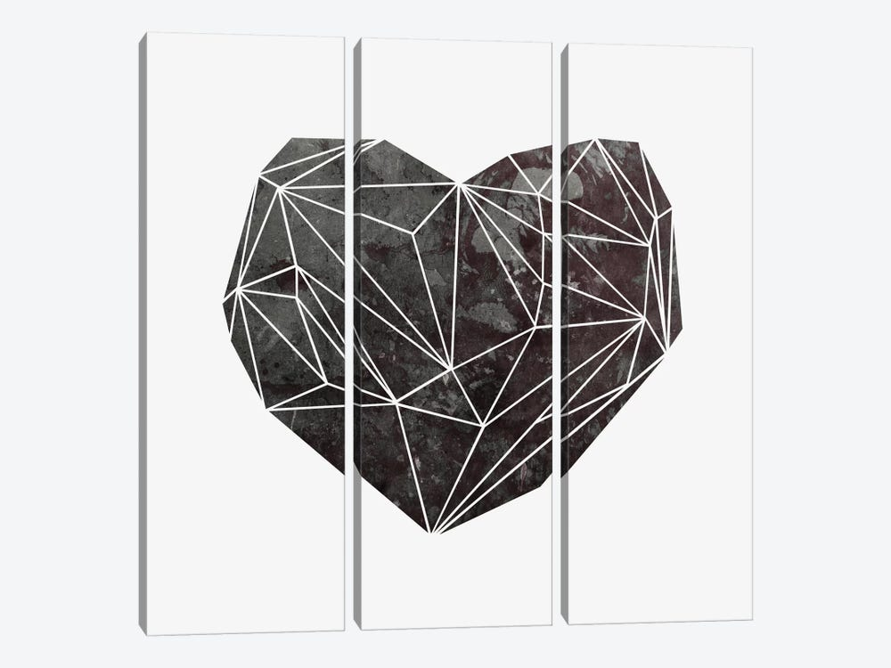 Heart Graphic IV 3-piece Canvas Art