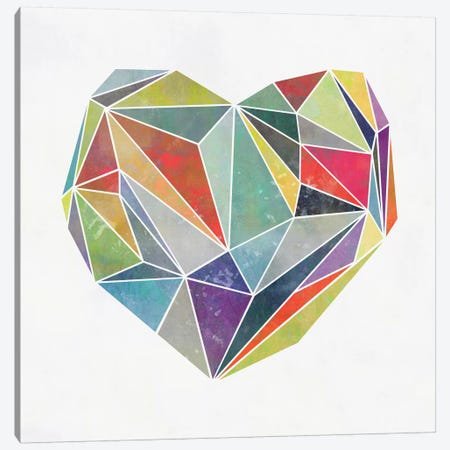 Heart Graphic V 3-Piece Canvas #BOH58} by Mareike Böhmer Canvas Art