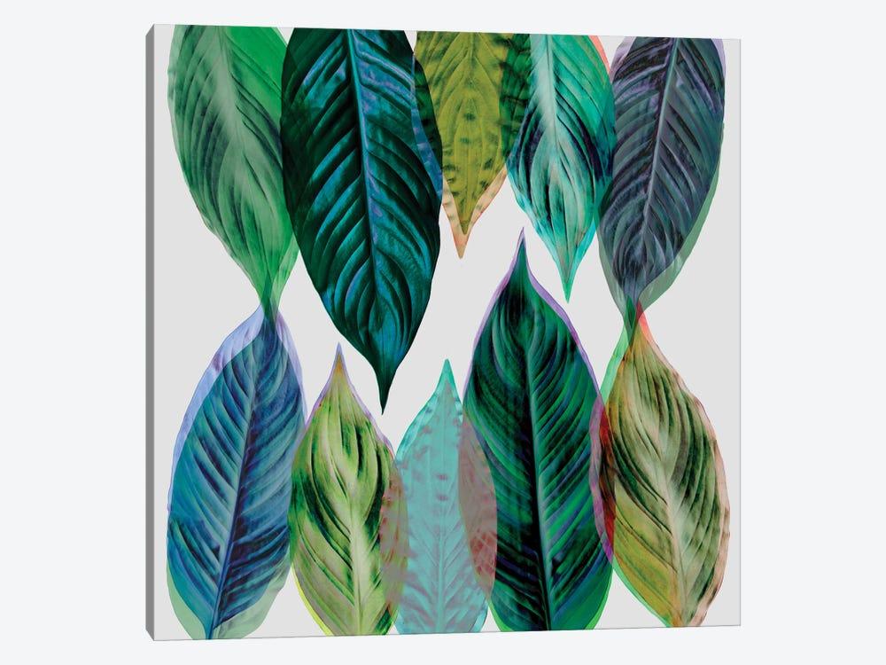 Leaves Green by Mareike Böhmer 1-piece Canvas Artwork