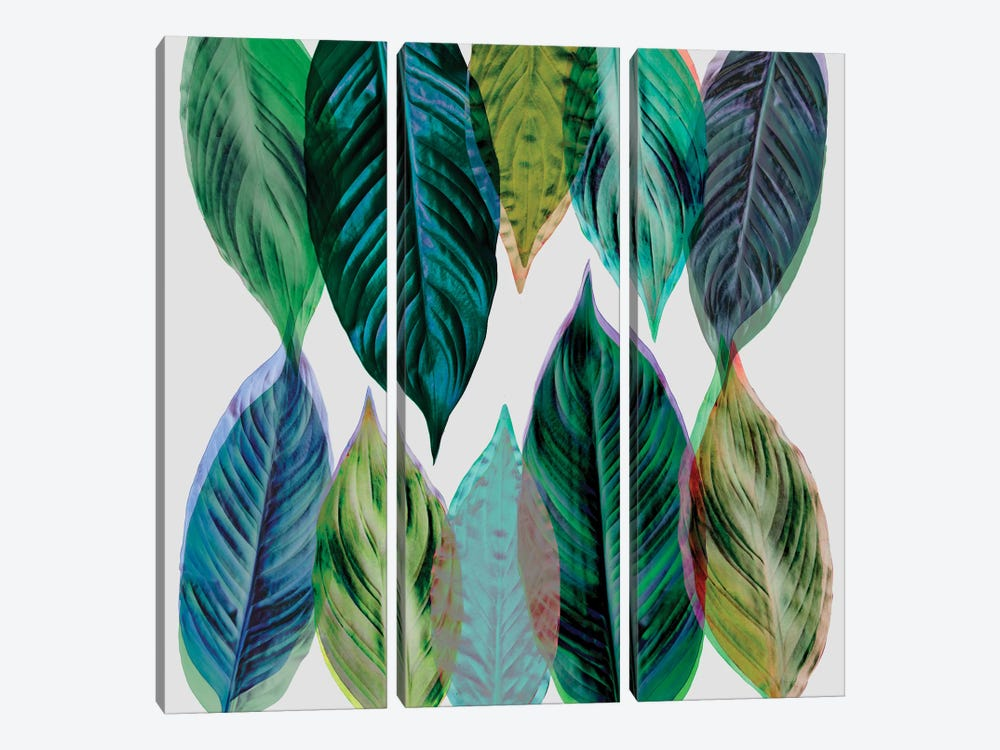 Leaves Green by Mareike Böhmer 3-piece Canvas Art