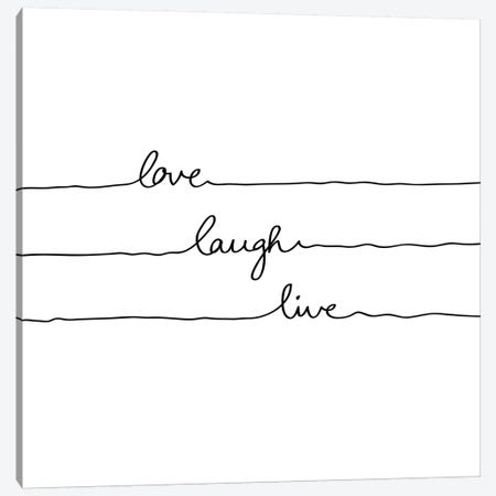 Love Laugh Live Canvas Print #BOH63} by Mareike Böhmer Canvas Print