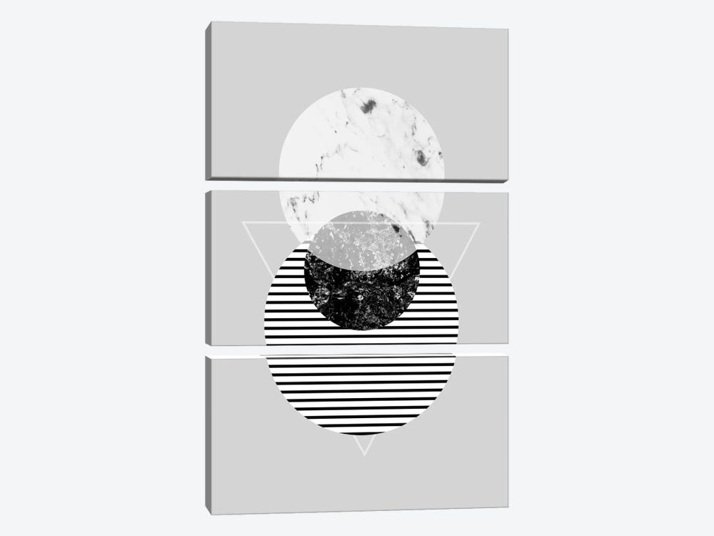 Minimalism IX by Mareike Böhmer 3-piece Canvas Print