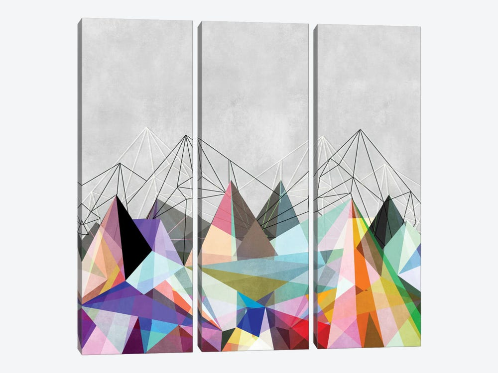 Colorflash III by Mareike Böhmer 3-piece Canvas Print