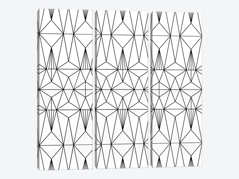 My Favorite Pattern I by Mareike Böhmer 3-piece Canvas Wall Art