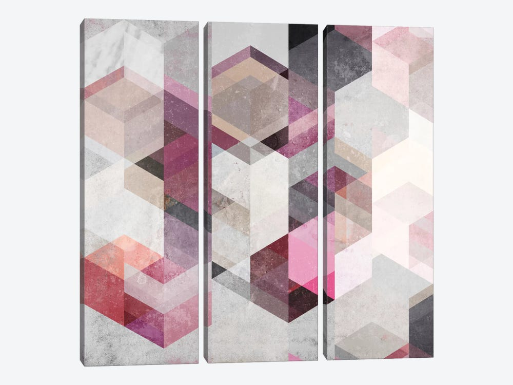Nordic Combination XXII.Y by Mareike Böhmer 3-piece Canvas Print