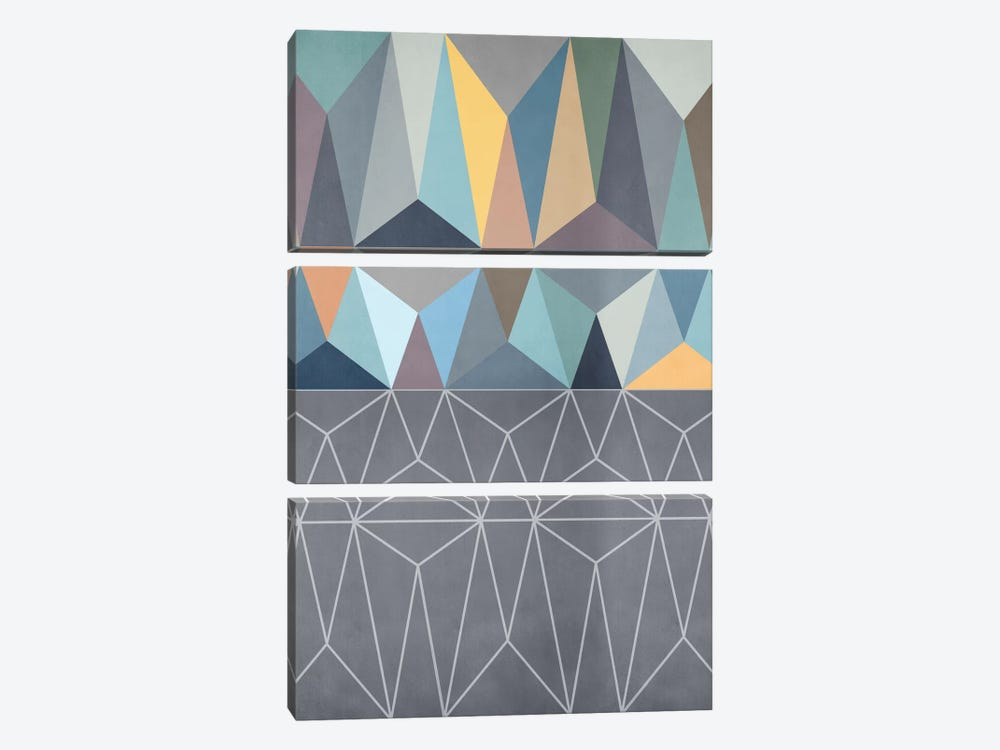 Nordic Combination XXXI by Mareike Böhmer 3-piece Canvas Print