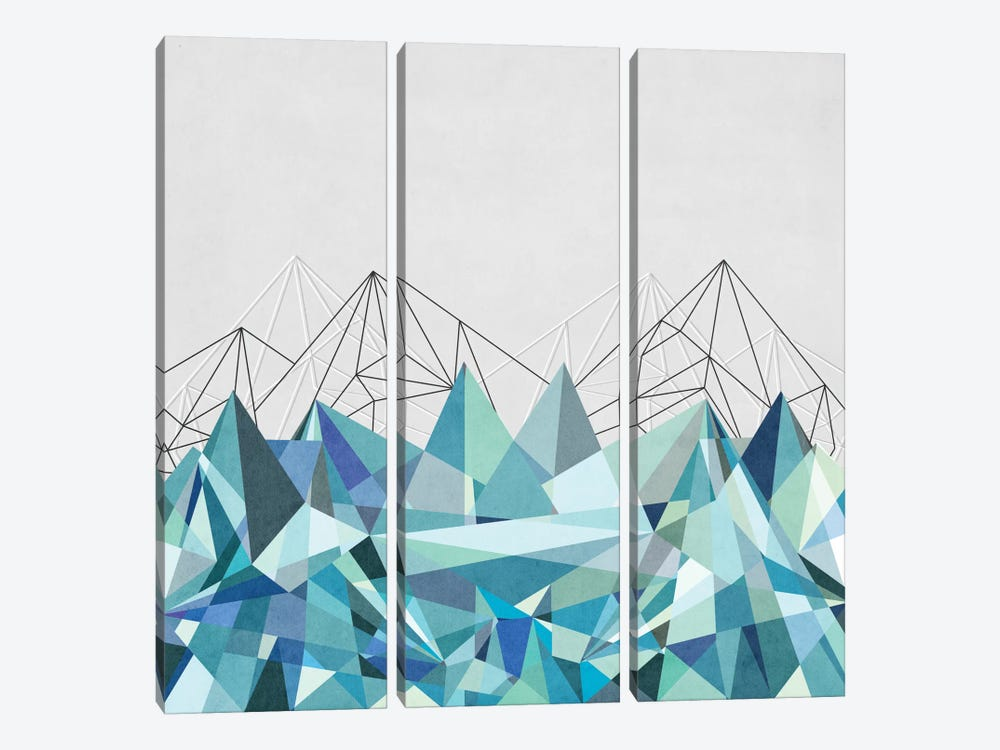 Colorflash III In Mint by Mareike Böhmer 3-piece Canvas Wall Art
