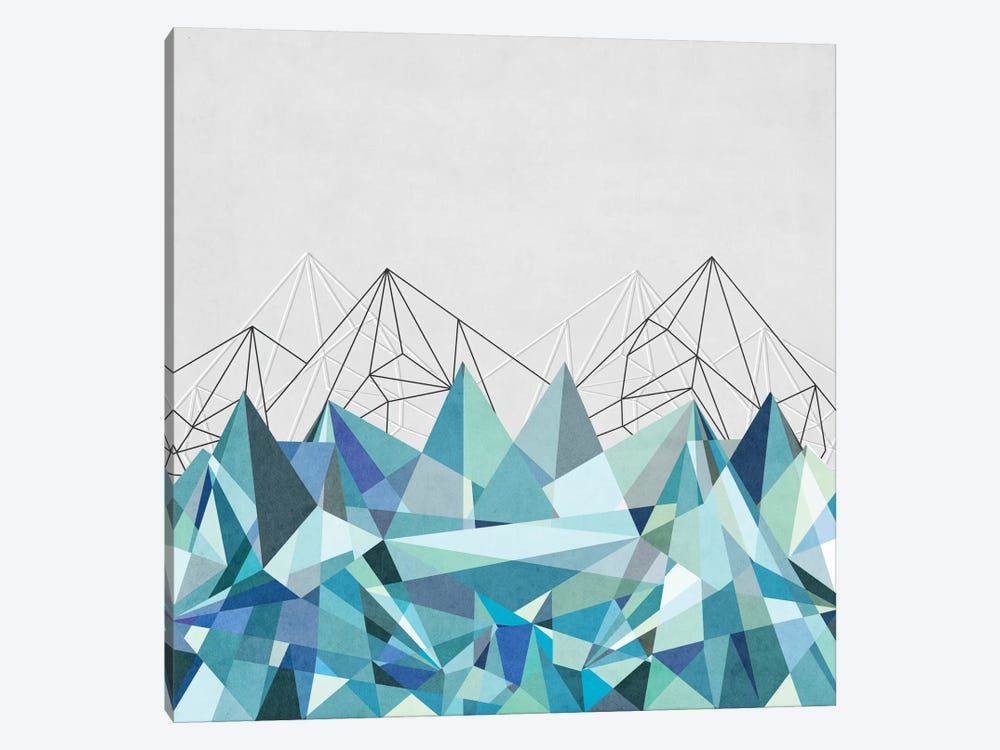 Colorflash III In Mint by Mareike Böhmer 1-piece Canvas Wall Art