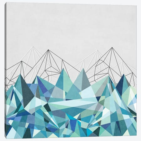 Colorflash III In Mint Canvas Print #BOH7} by Mareike Böhmer Canvas Artwork