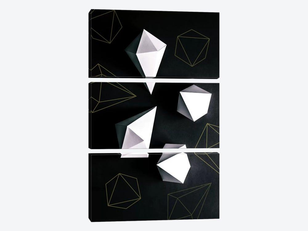 Origami II by Mareike Böhmer 3-piece Canvas Art Print