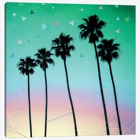 Palm Trees IV Canvas Print #BOH85} by Mareike Böhmer Canvas Artwork