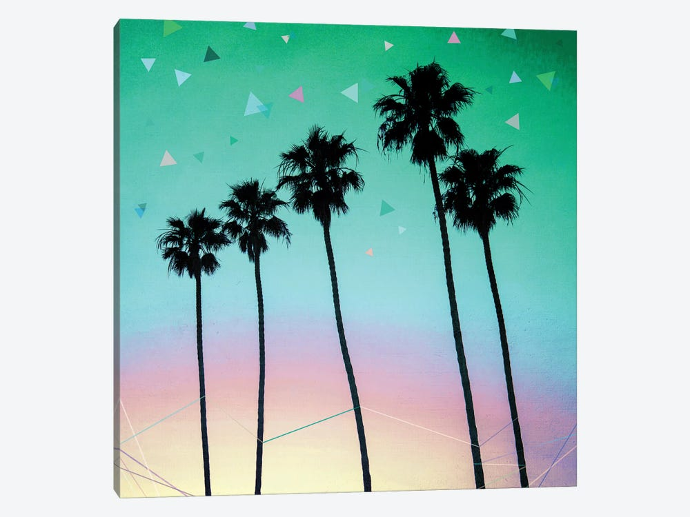 Palm Trees IV by Mareike Böhmer 1-piece Canvas Print