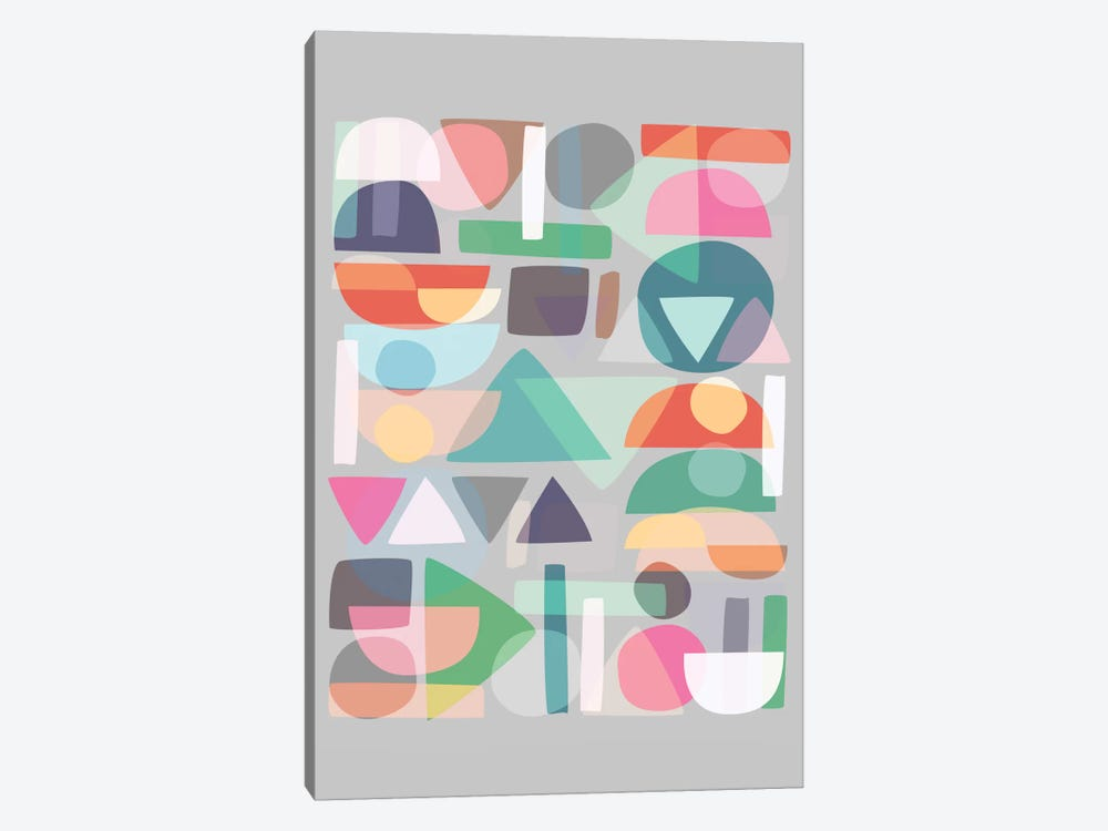 Pastel Geometry II by Mareike Böhmer 1-piece Canvas Artwork