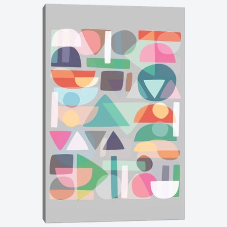 Pastel Geometry II Canvas Print #BOH86} by Mareike Böhmer Canvas Wall Art