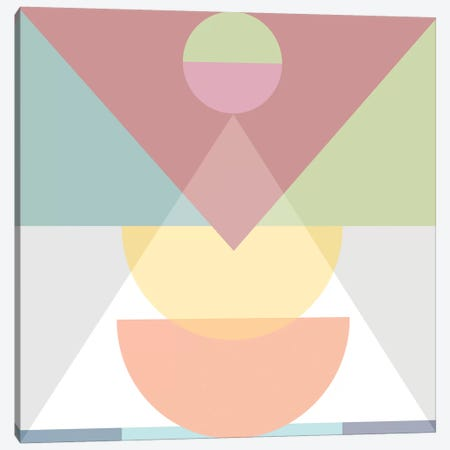Pastel Play III Canvas Print #BOH87} by Mareike Böhmer Canvas Artwork