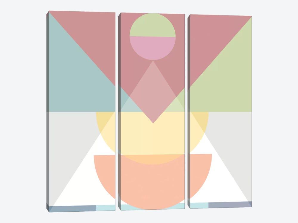 Pastel Play III by Mareike Böhmer 3-piece Canvas Art Print