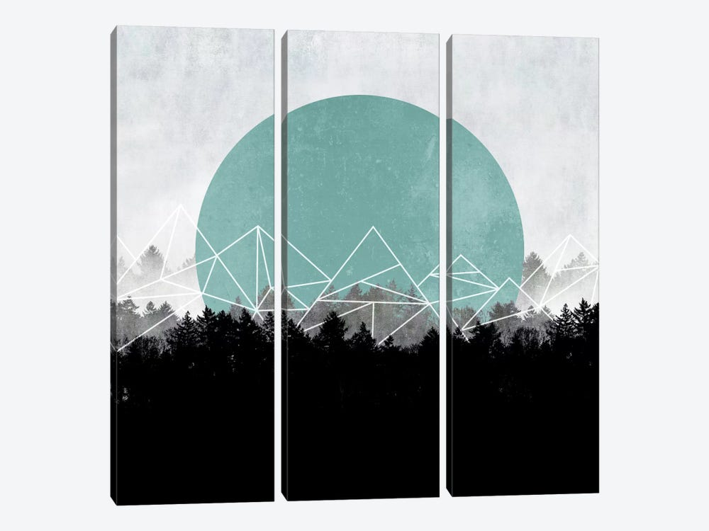 Woods Abstract II by Mareike Böhmer 3-piece Canvas Print