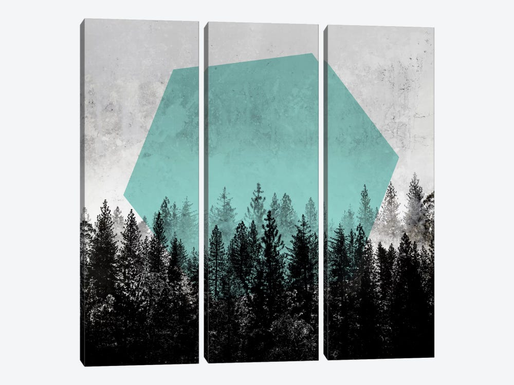 Woods III by Mareike Böhmer 3-piece Art Print