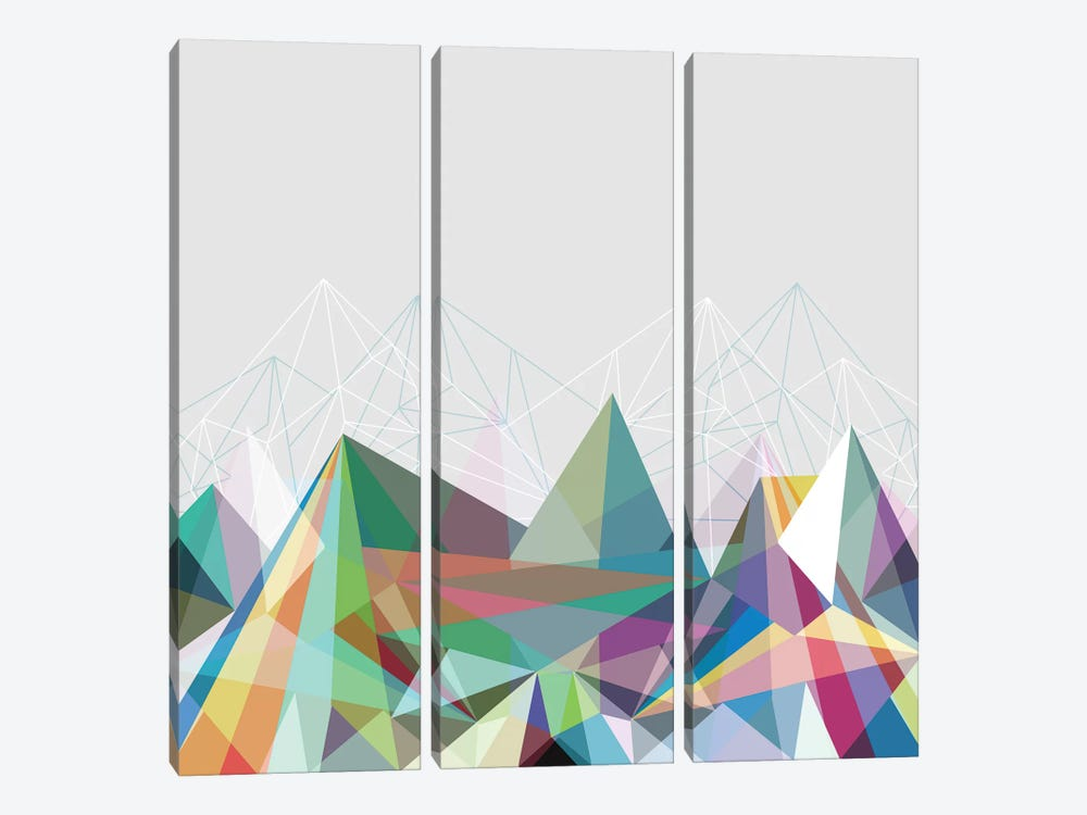 Colorflash VII by Mareike Böhmer 3-piece Canvas Wall Art