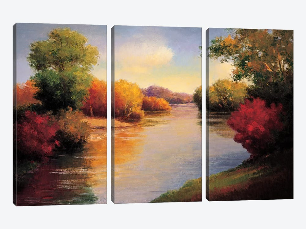 The Morning Light II by Melissa Bolton 3-piece Canvas Print