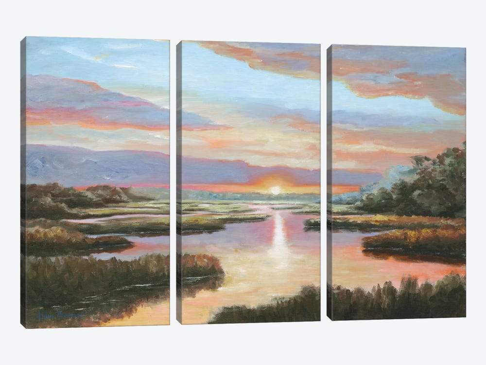 Enchanted Moment III by Bonnec Brothers 3-piece Canvas Artwork