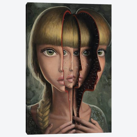 One Day I'll Open Myself Canvas Print #BOR104} by Adrian Borda Canvas Art Print