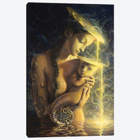 The Fountain II Canvas Print #BOR108} by Adrian Borda Canvas Wall Art