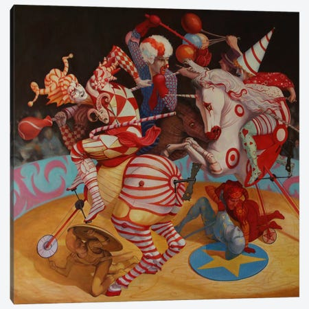 Cirque du Soleil Canvas Print #BOR10} by Adrian Borda Canvas Wall Art