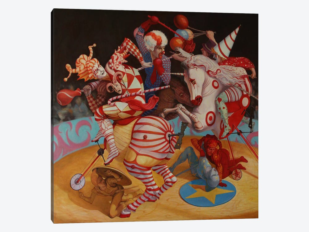 Cirque du Soleil by Adrian Borda 1-piece Canvas Artwork