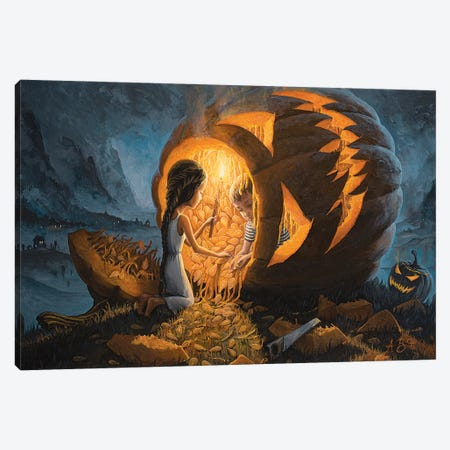 The Night We Scared All The Demons Canvas Print #BOR113} by Adrian Borda Canvas Print
