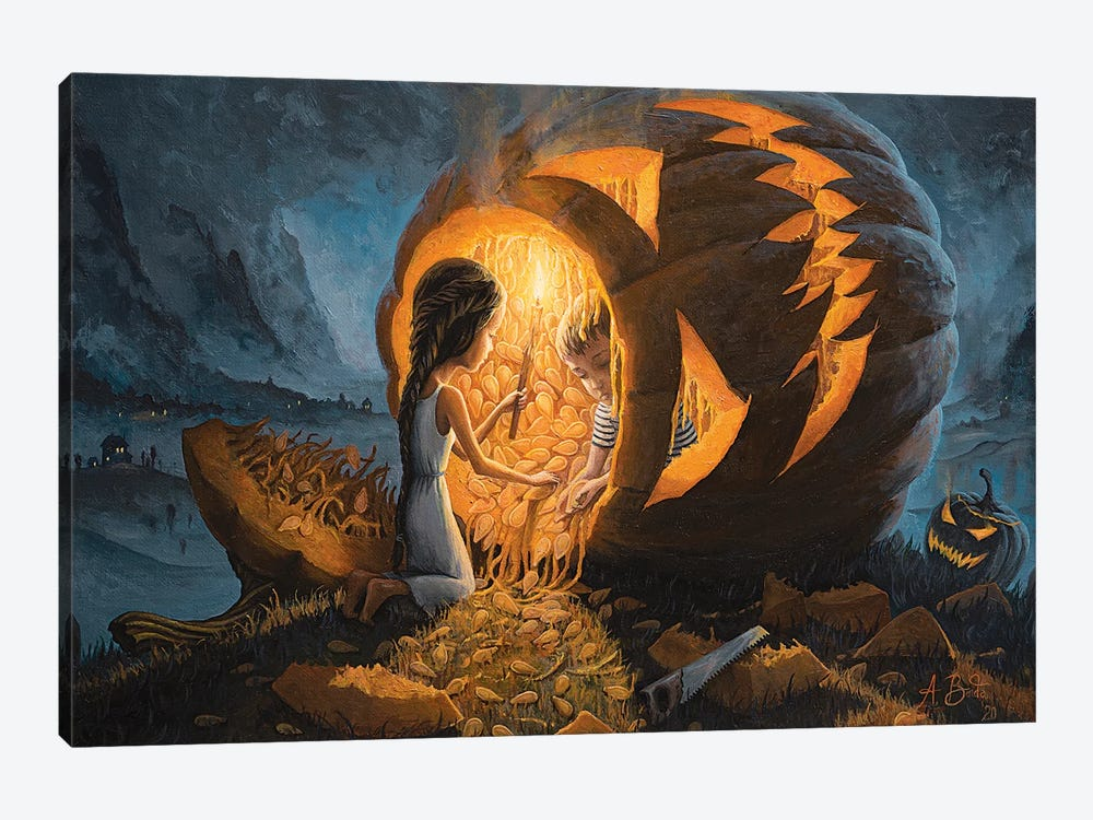 The Night We Scared All The Demons by Adrian Borda 1-piece Canvas Art
