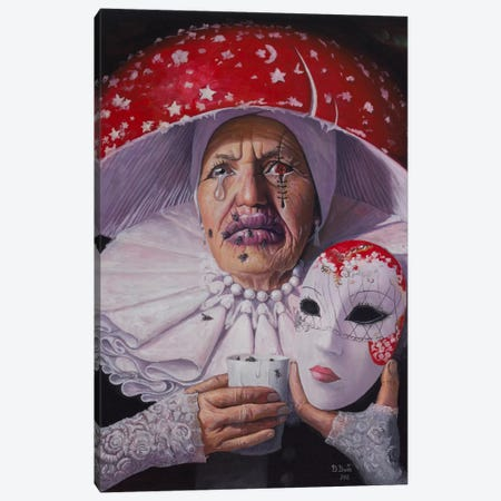 I Need No Name, No Mask Now Canvas Print #BOR22} by Adrian Borda Canvas Art Print