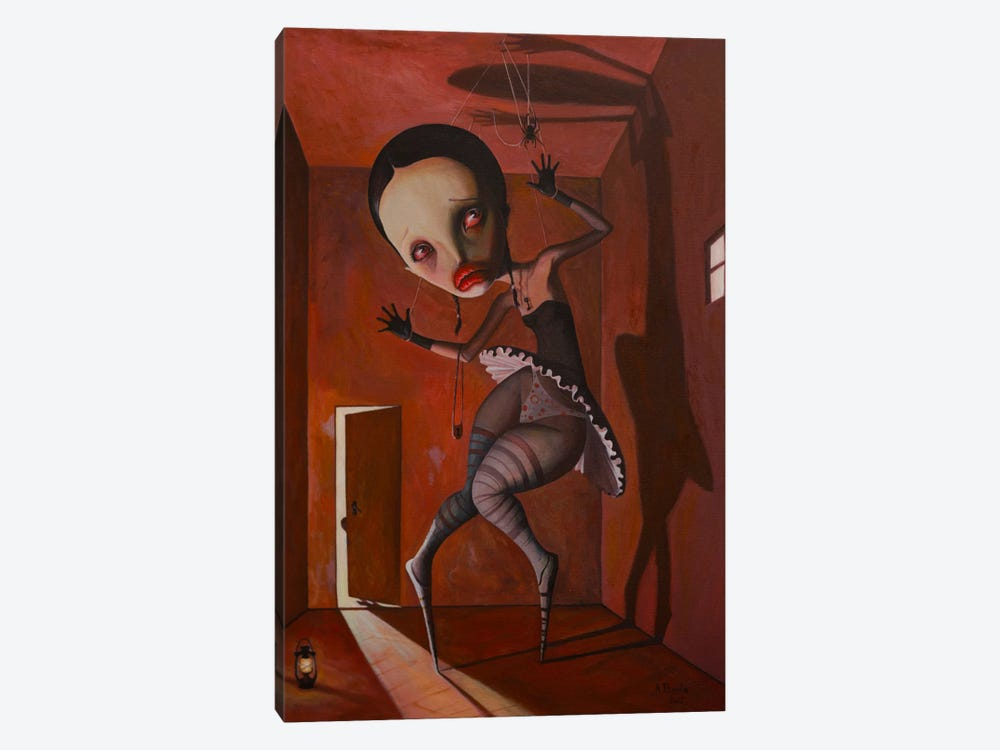 I'm Just A Puppet Of My Fears by Adrian Borda 1-piece Canvas Print