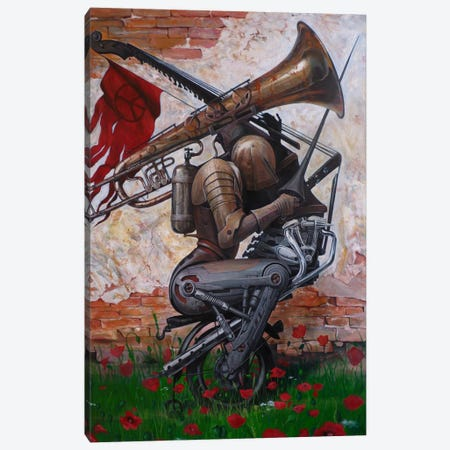 A Song Instead Of A Kiss Canvas Print #BOR2} by Adrian Borda Canvas Art