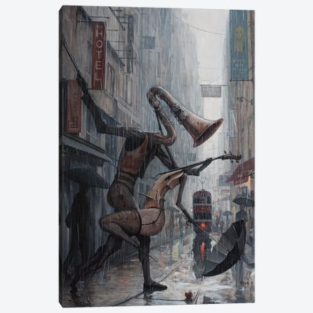 Life Is A Dance In The Rain Canvas Print #BOR32} by Adrian Borda Canvas Wall Art